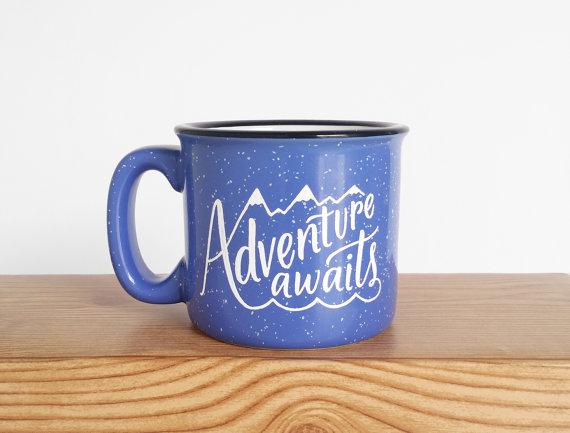 adventure awaits mug